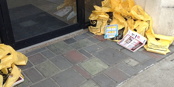 Yellow Pages Left by the Door