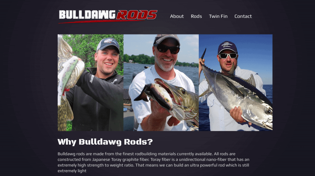 Bulldawg Rods Website