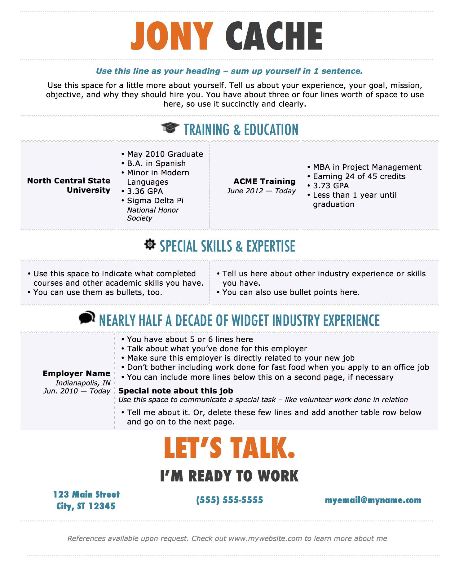 Modern Resume Template For Microsoft Word  Microsoft Office Resume Templates 2014