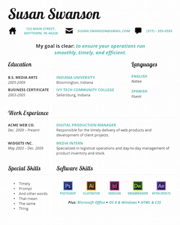 Gridly Free Microsoft Word Resume Template