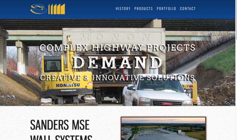 Sanders Companies Website Redesign