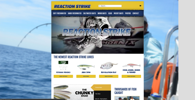 Reaction Strike Website